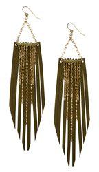 Fringe Dazzle Earrings by Sweet Evie $37