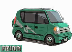 the art of kevin nelson: Wasabi's van runner-ups- the car was supposed to be an incredibly boring vehicle that no person should really want to buy- these are the runner ups