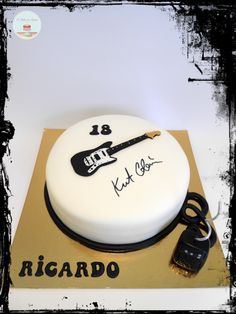 Kurt Cobain Nirvana Cake - I want it to my 18 birthday!