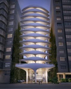 Designed by Zaha Hadid Architects. Zaha Hadid Architects has released more information on their first Brazilian project - a luxury residential building known as Casa Atlântica. Zaha Hadid Architecture, Organic Architecture, Futuristic Architecture, Beautiful Architecture, Contemporary Architecture, Art And Architecture, Chinese Architecture, Contemporary Design, Zaha Hadid Buildings