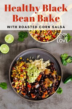 A delicious and healthy vegan black bean recipe that every busy cook needs to have on hand. It's easy to prepare and also works great for meal prep. This combination of black beans and corn salsa have tons of flexibility, allowing you to create many different plant-based meals with it as the base.    Read more for the full recipe and lots of tips.  Want more delicious vegetarian main meal recipes?  Sign up for my email list to get them straight to your inbox plus meal prep tips and more. Vegan Black Bean Recipes, Vegetarian Bean Recipes, Vegetarian Meal Prep, Vegan Recipes Beginner, Quick Vegetarian Meals, Lentil Recipes, Entree Recipes, Meal Recipes, Healthy Recipes