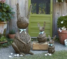 Happy Bunny family to decorate outside and welcome visitors and friends into…