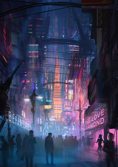 I posted this image from my scifi graphic novel a month ago and promised a few of you guys an update&; I posted this image from my scifi graphic novel a month ago and promised a few of you guys an […] backgrounds for guys Ville Cyberpunk, Art Cyberpunk, Cyberpunk Aesthetic, Neon Aesthetic, Cyberpunk Fashion, Concept Art Landscape, Fantasy Landscape, Art Tutorial, Art Disney