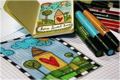 great mixed media and doodling blog