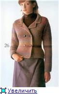 Double Breasted Jacket free crochet graph pattern