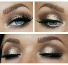 Gold and Brown eyeshadow