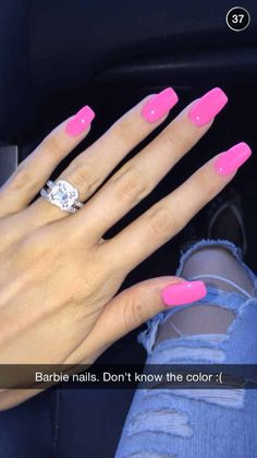pink acrylic nails 60 Most Gorgeous And Lovely Pink Nails Design (include Acrylic Nails, Matte Nails Hot Pink Nails, Pink Acrylic Nails, Love Nails, How To Do Nails, Fun Nails, Barbie Pink Nails, Matte Nails, Bright Pink Nails, Pink Summer Nails