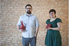 In the construction zone of what's going to be the Red Rabbit restaurant, chef Sean Collins and general manager Jessie Larsen (two of 11 owners) show off their red rabbits. Stratford Ontario, Toronto Star, Fine Dining, Rabbits, Jessie, Wine Recipes, Spin, Restaurants, June