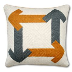 Bargellow Arrows Pillow, $62.50, Jonathan Adler