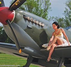 More of our beautiful pinup girl Yulia, this time from our 2015 calendar with the spitfire. She's a real beauty isn't she? #spitfire #british #fighterplane #aircraft #warbirds #aviation #classy #photography #calendar #classic #1940s #wwii #pinup #pinupgirl #starlet #wing #fashion