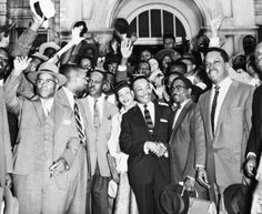Martin Luther King and Supporters of the  Montgomery Bus Boycott