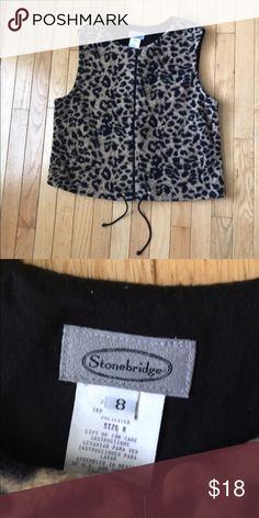Leopard Print Vest Cute vest perfect with jeans or leggings! Stonebridge Jackets & Coats Vests