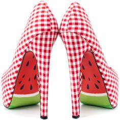 Red Gingham and a Watermelon Sole, Not sure I can resist... Taylor Says - Melons - Red