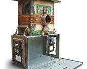 GadgetSponge.com upcycled birdhouses and lamps - made in Shreveport, Louisiana #madeintheusa #green