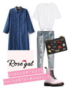 """""""Untitled #36"""" by shinnanda on Polyvore featuring Dr. Martens and Moschino"""