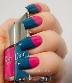 Dior Nail Polish, Dior Nails, Nail Polish Colors, Nail Polishes, Paradise Nails, Color Block Nails, No Chip Nails, Different Types Of Nails, Sassy Nails