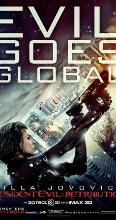 Directed by Paul W.S. Anderson.  With Milla Jovovich, Sienna Guillory, Michelle Rodriguez, Aryana Engineer. Alice fights alongside a resistance movement to regain her freedom from an Umbrella Corporation testing facility.