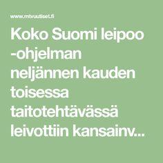 Koko Suomi leipoo -ohjelman neljännen kauden toisessa taitotehtävässä leivottiin kansainvälisiä herkkuja. Tommii leipoi tehtävässä italialaisia cannoleja. Mtv, Mascarpone