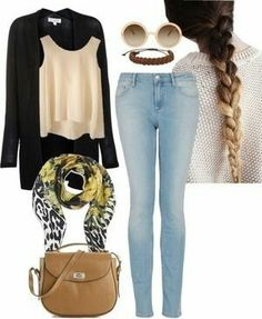Un outfit mas fresco comodo para ir a la universidad