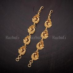 Designer Antique matils studded with Synthetic Stones and Beads,plated with gold polish! Wedding Jewelry And Accessories, Jewelry Sets, Accessories Online, Gold Jhumka Earrings, Gold Earrings Designs, Gold Jewelry Simple, Gold Rings Jewelry, Gold Jewellery Wallpaper, Ear Chain