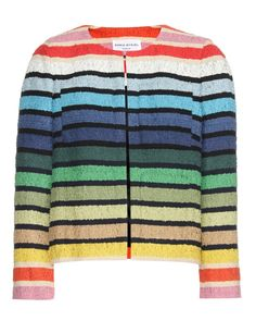 Sonia Rykiel Metallic-striped Cotton-blend Terry Jacket In Multi Boucle Jacket, Fashion Week 2015, Striped Jacket, Sonia Rykiel, Fashion Details, Cotton Dresses, Fashion Outfits, Women's Fashion, How To Wear
