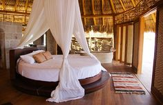 Patul rotund - lux si confort in dormitor printr-o singura piesa