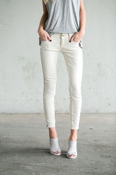 A good skinny pant goes with literally everything in your closet | Levon Zipper Skinny Free People