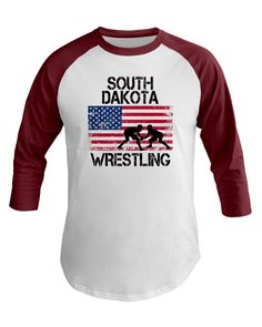 8d2be53c0 New Mexico Wrestling American Flag Tee Baseball Tee wrestling