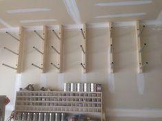 Quick, Cheap Lumber Rack (JCC) - by SuperCubber @ LumberJocks.com ~ woodworking community Plywood Storage, Wood Storage Sheds, Lumber Storage, Tool Storage, Garage Storage, Diy Storage, Storage Shelves, Garage Atelier, Woodworking Garage