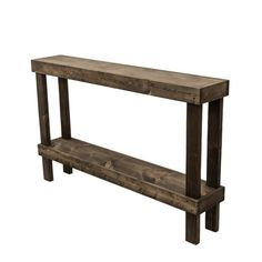 Del Hutson Designs Rustic Luxe Dark Walnut Large Sofa Table - The Home Depot Outdoor Console Table, White Console Table, Wooden Console Table, Wooden Tables, Outdoor Sofa, Small Sofa, Large Sofa, Rustic Luxe, Rustic Wood