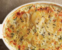 Potato & Celery Root Gratin with Leeks