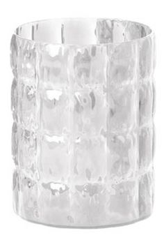 "Designed by Patricia Urquiola 2011 The Matelasse vase is a textured large modern vase with a quilted design that reflects off of itself to highlight its form. The large vase could double as storage an ice bucket or simply a decorative element.  Specifications: 9.1"" D 