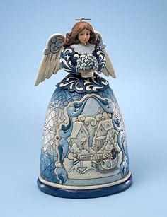 Jim Shore Angel Figurine - Blue Winter