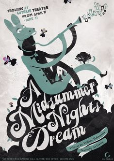 A Midsummer Nights Dream. Theatre Poster