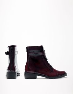 Bershka Bulgaria - BSK unplugged lace-up ankle boots