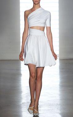 Dondi Jersey One Shoulder Dress by Cushnie et Ochs for Preorder on Moda Operandi