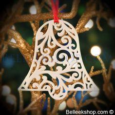 Belleek Christmas Lace Bell - Christmas Tree Ornament