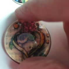 tray, cut it off with a flush cutter, and file it smooth. Using the same glass glue or How To Make Photo, Glass Tile Pendant, Staff Appreciation, Badge Reel, Badge Holders, Diy Gifts, Class Ring, Arts And Crafts, Badges