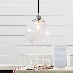 60W E27 Pendent Light in Glass Ball Feature – AUD $ 118.05