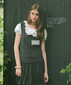 U라인의 조끼 도안 : 네이버 블로그 Girls Dresses, Flower Girl Dresses, Vest, Clothes For Women, Knitting, Wedding Dresses, Lady, Crochet, Sweaters