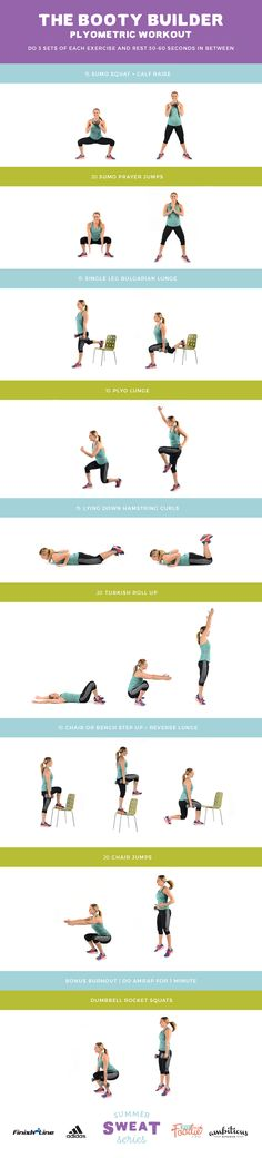 The Booty Builder Plyometric Workout: combine lower body strength training and plyometric movements to tone your lower bod!