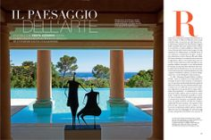 A house on the #FrenchRiviera: the view extends from the blue of the pool to the blue of the sea. Metal sculpture by #PhilippeHiquily. ... View more about #TiEffeEsse on #ADItalia, June 2014 http://www.tieffeesse.com/FullScreenGallery.aspx?glid=1b6d0ca65bc94d0b90fec331a7ae2145#1