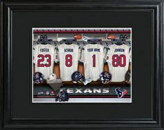 Houston Texans Locker Room Photo