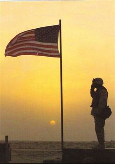 Soldier Saluting Flag | soldier saluting the flag gracesgraphics.com
