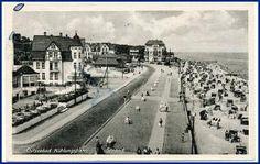 O2565 Kühlungsborn, Straßenpartie am Strand, gel. 1952
