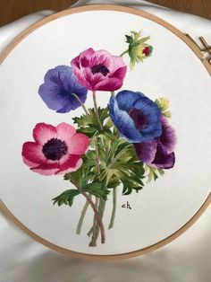 50 Ideas Sewing Machine Art Thread Painting For 2019 Blackwork Embroidery, Hand Embroidery Stitches, Embroidery Techniques, Beaded Embroidery, Embroidery Designs, Thread Painting, Fabric Painting, Cross Stitch Pictures, Brazilian Embroidery