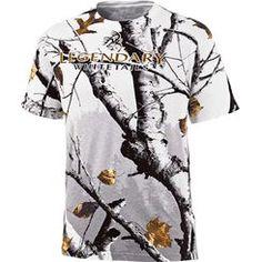 Backwoods Big Game Snow Camo Short Sleeve T-Shirt deergear.com #LegendaryWhitetails