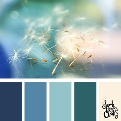 Beautiful blues color Inspiration | Click for more color combinations and color palettes inspired by the Pantone Fall 2017 Color Trends, plus other coloring inspiration at http://sarahrenaeclark.com | Colour palettes, colour schemes, color therapy, mood board, color hue