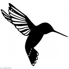 Pochoir inversé silhouette - Oiseau - 15 x 15 cm - Photo n°1