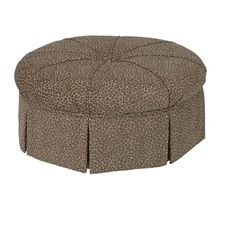 Shop for the Kincaid Furniture Accent Chairs Round Skirted Ottoman at Belfort Furniture - Your Washington DC, Northern Virginia, Maryland and Fairfax VA Furniture & Mattress Store
